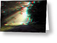 Morning Light - Use Red-cyan 3d Glasses Greeting Card