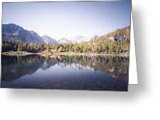 Morning Light At Heart Lake Greeting Card by Alexander Kunz