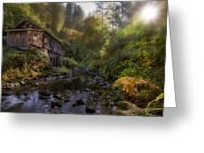 Morning Light Cedar Creek Grist Mill Greeting Card