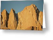 Morning Light On Mt. Whitney Greeting Card