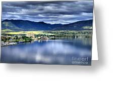 Morning Light On Okanagan Lake Greeting Card