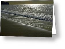 Morning Light On Sandown Beach Greeting Card