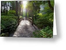 Morning Light On The Bridge Greeting Card