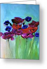Morning Light Poppies Painting Greeting Card