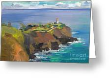 Morning Lighthouse Greeting Card