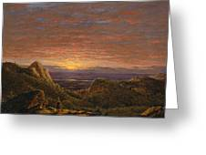Morning Looking East Over The Hudson Valley From The Catskill Mountains Greeting Card