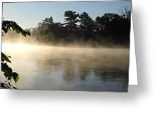 Morning Mist Glowing In Sunlight Greeting Card