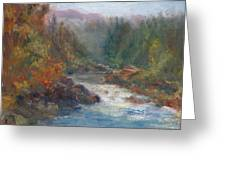 Morning Muse - Original Contemporary Impressionist River Painting Greeting Card