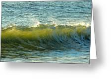Morning Ocean Break Greeting Card