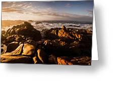 Morning Ocean Panorama Greeting Card