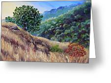 Morning On A Hilltop Greeting Card