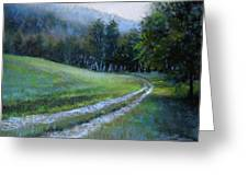 Morning On Blue Mountain Road Greeting Card