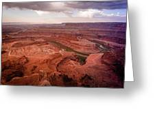 Morning On Dead Horse Point Greeting Card