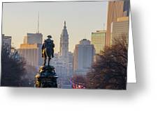 Morning On The Parkway - Philadelphia Greeting Card
