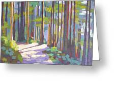 Morning On The Trail Greeting Card