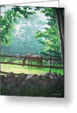 Morning Pasture Greeting Card