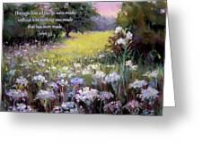 Morning Praises With Bible Verse Greeting Card
