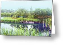 Morning River In Old Dutch Village Greeting Card