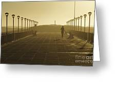 Morning Run Greeting Card