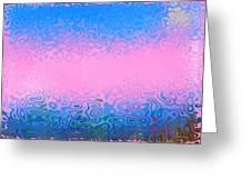 Morning Sea Fog.cold Water Greeting Card