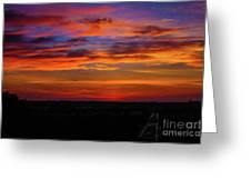 Morning Sky Over Washington D C Greeting Card