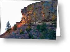 Morning Sun On Castle Rock Greeting Card