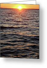 Morning Sun On The Water Greeting Card