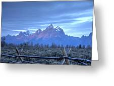 Morning Sunrise In The Tetons Greeting Card