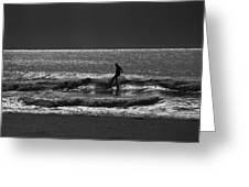 Morning Surfer Greeting Card