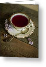 Morning Tea With Lilacs Greeting Card