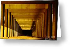 Morning Under The Bridge Greeting Card