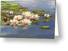 Morning Water Lilies Greeting Card