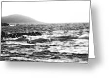 Morning Waves - Bw Diffused 04 Greeting Card
