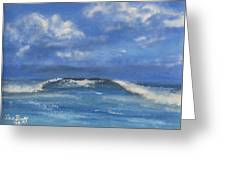Morning Waves, 9x12, Oil, '08 Greeting Card