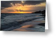 Mornings On The Beach  Greeting Card