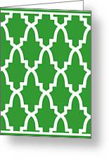 Moroccan Arch With Border In Dublin Green Greeting Card