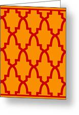 Moroccan Arch With Border In Tangerine Greeting Card