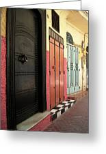 Moroccan Doors Greeting Card