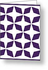 Moroccan Inlay With Border In Purple Greeting Card