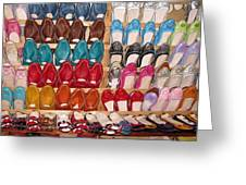 Moroccan Shoes 3 Greeting Card