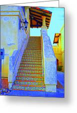 Moroccan Staircase Greeting Card