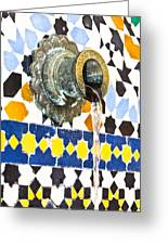 Moroccan Tap Greeting Card by Tom Gowanlock