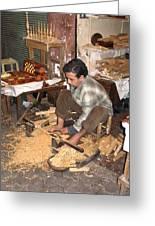 Moroccan Woodturner Greeting Card