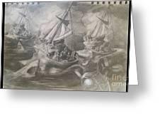 Morphological Echo At Sea Greeting Card