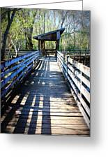 Morris Bridge Boardwalk Greeting Card
