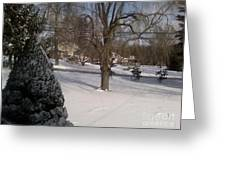 Morris County New Jersey Snowstorm Of 12-26-10 Greeting Card