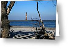 Morris Island Lighthouse Charleston Sc Greeting Card