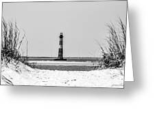 Morris Island Lighthouse Horizons Greeting Card