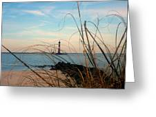 Morris Island Lighthouse In Charleston Sc Greeting Card