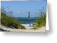 Morris Island Lighthouse Walkway Greeting Card